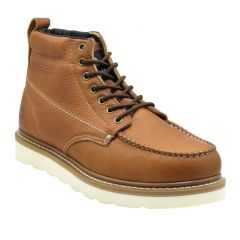 """King Rocks 6"""" Brown Moc Toe Work Boots (Rubber)"""