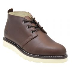 Mens Heritage Chukka Work Boot Brown Leather