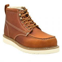 "Mens 6"" Classic Moc Toe Work Boot Tanned Leather"