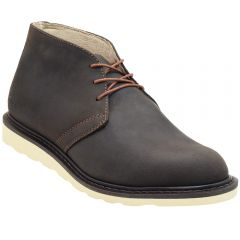 "Men's 5"" Slim Chukka Work Boots Dark Brown Leather"