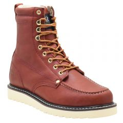 "Men's Classic 8"" Moc Toe Wedge Work Boot Redwood"