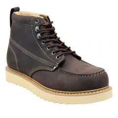 "Mens 6"" Classic Moc Toe Wedge Work Boot Leather"
