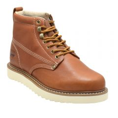 """Men's Classic 6"""" Round Toe Wedge Work Boots"""