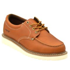 Mens Moc Toe Oxford Work Shoe